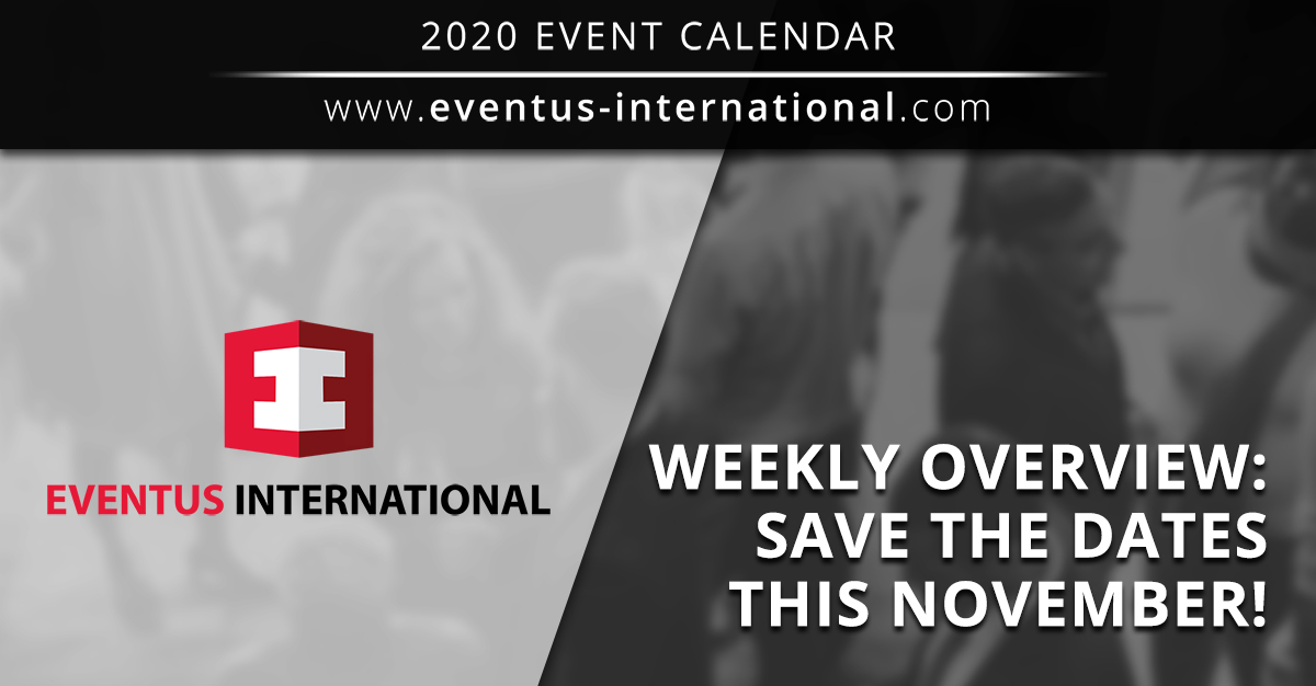Gaming Sports Betting Shows: Weekly Overview: Save The Dates November 2020