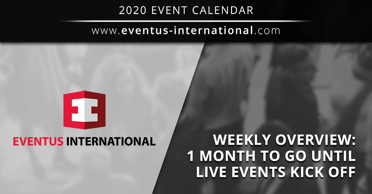 International Gaming Events 2020 From October Onwards