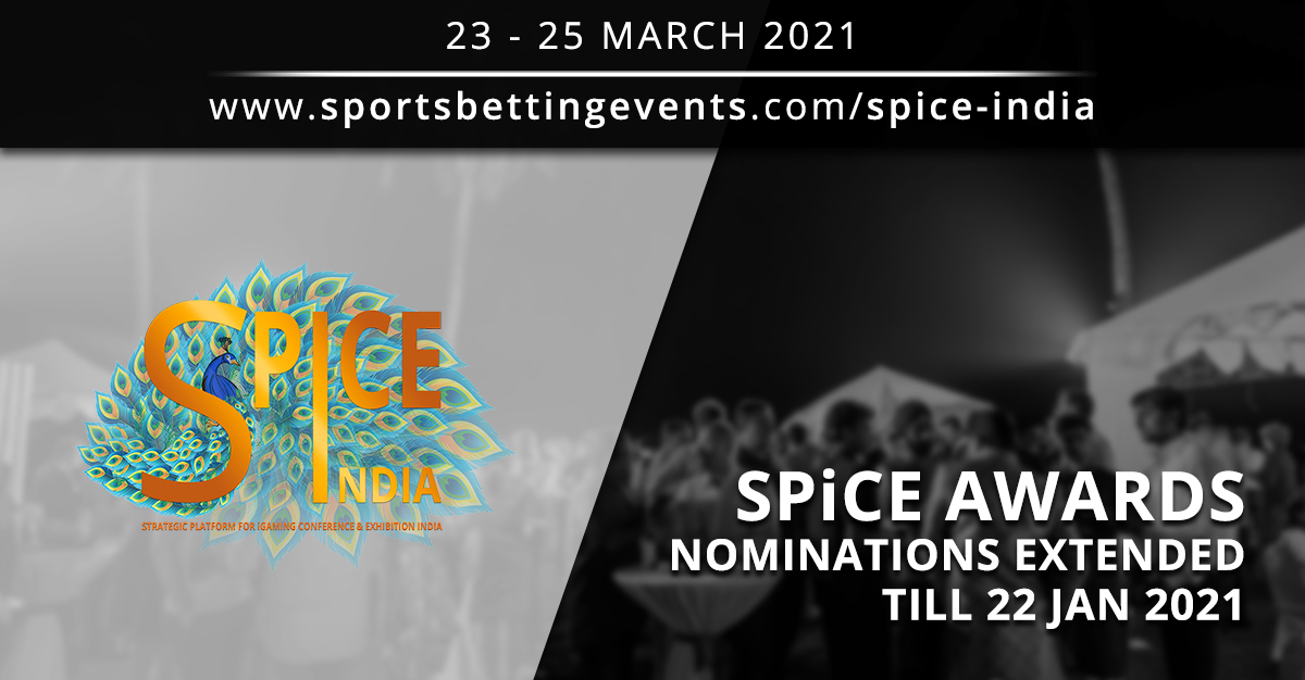 SPiCE AWARDS: iGaming Conference Exhibition Nominations Extended Till 22 Jan 2021