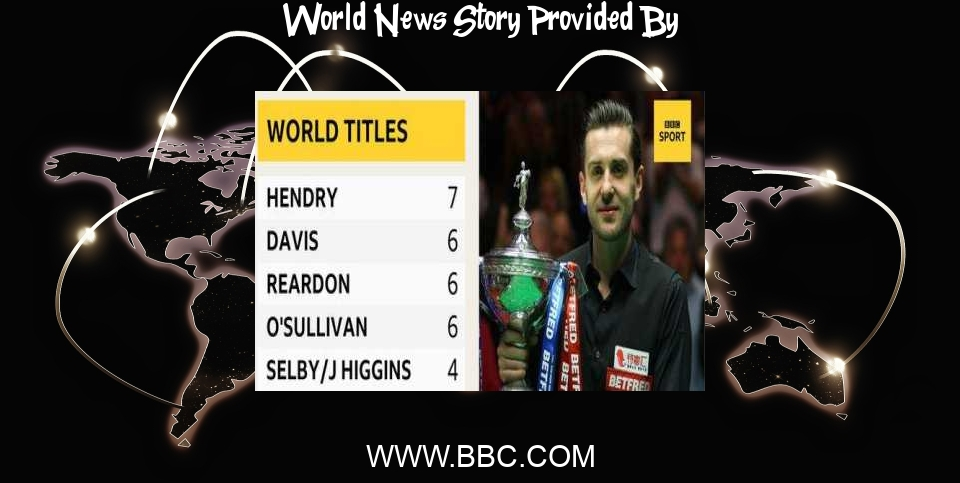World News: World Snooker Championship final: Mark Selby wins fourth world title - BBC News