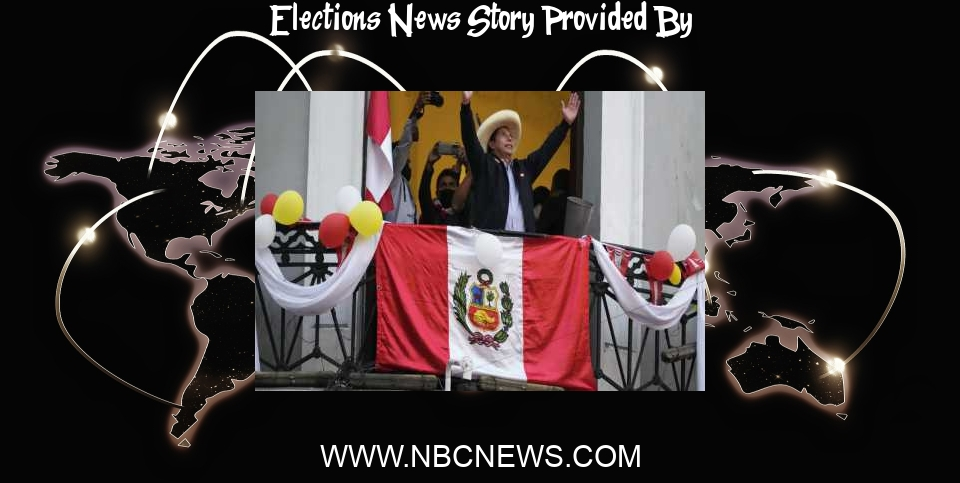 Elections News: Peru's socialists lead tight election as battle brews over result - NBC News