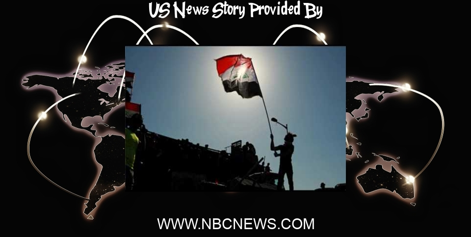 US News: United States and Iraq agree on eventual withdrawal of U.S. combat troops - NBC News