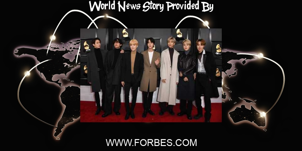 World News: BTS Own 80% Of The Top Five On This Week's World Albums Chart - Forbes